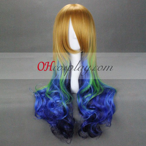 Japon Harajuku Series Yellow & Green & Blue Costume Carnaval Cosplay perruque