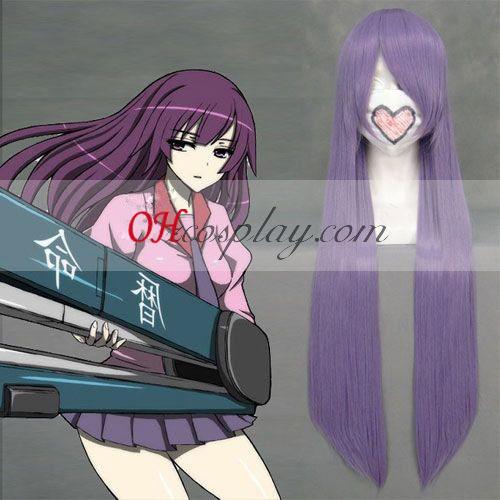Monogatari series Senjougahara Hitagi Purple Cosplay Wig Australia