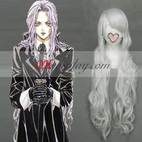 Angel Sanctuary Rosiel Sliver White Cosplay Wave Wig