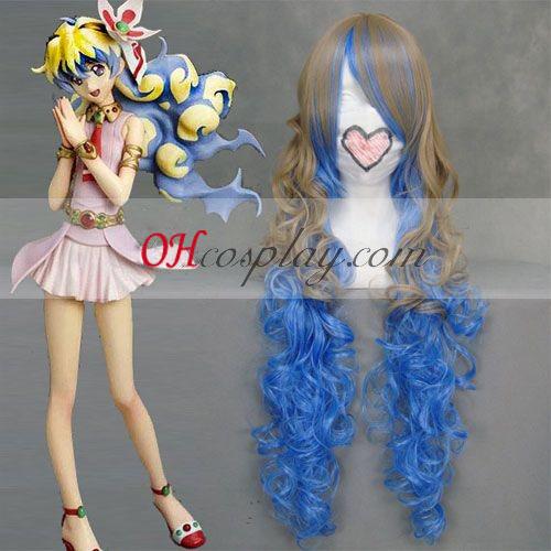 Tengen Toppa Nia Brown y azul cosplay peluca