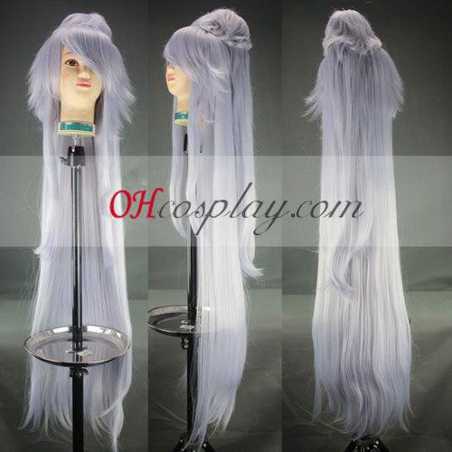 UN-GO Ungo Cosplay peruca Branca