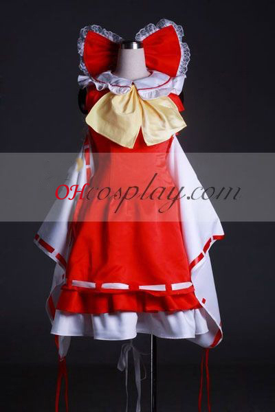 Touhou Project Hakurei Reimu Cosplay Kostuum-Geavanceerde Custom
