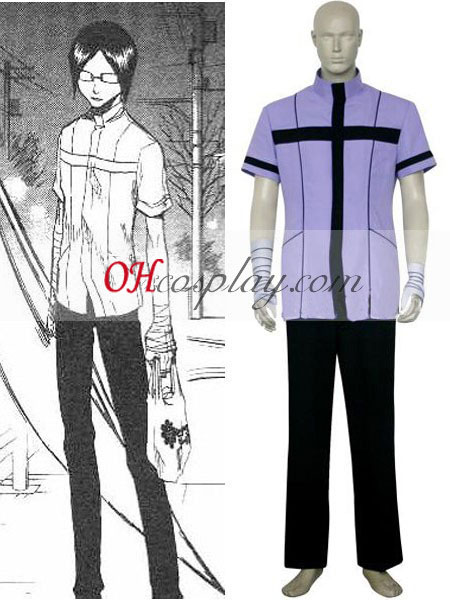 Bleach Uryuu Ishida shirt Uniform Cosplay Kostym