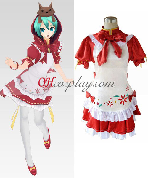 Vocaloid Project Diva Red Miku Cosplay Kostuum