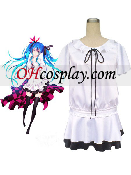 Vocaloid Hatsune Miku White Dress Cosplay Costume