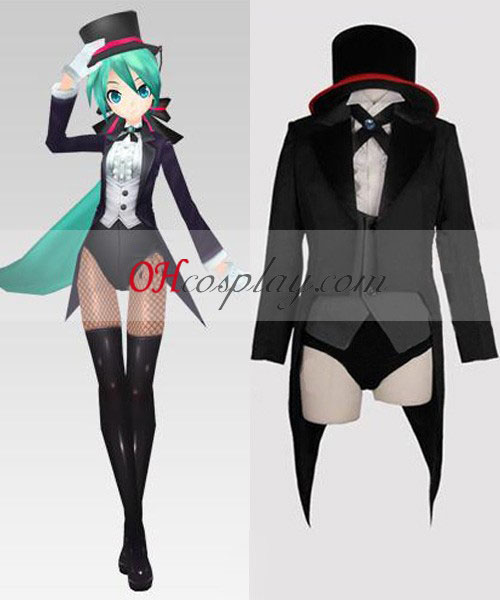 Vocaloid 2 Project Diva Miku goochelaar swallowtail Cosplay Costume
