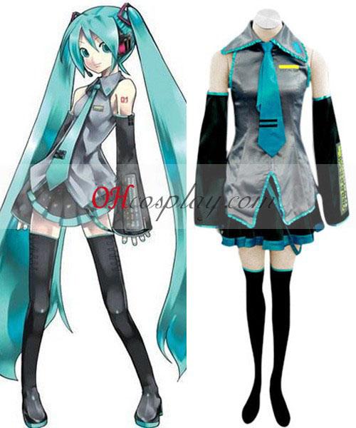 Vocaloid Hatsune Miku Cosplay kostym