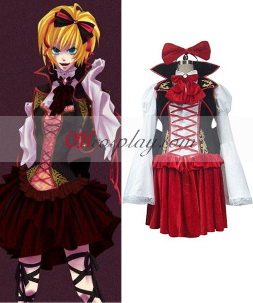 Vocaloid Sandplay Singing of The Dragon Rin Cosplay Costume