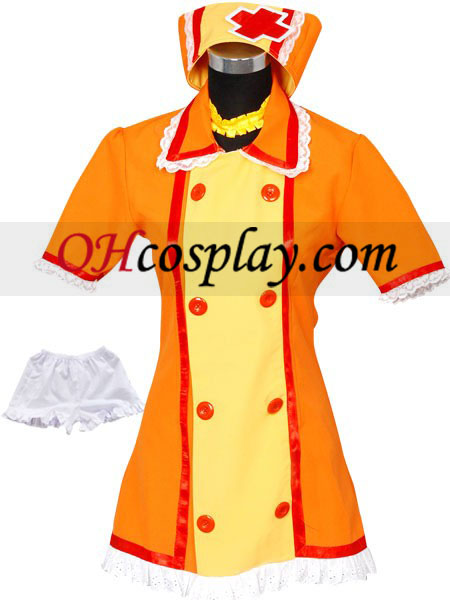 Vocaloid Kagamine Rin Orange Uniform Cosplay Kostüm