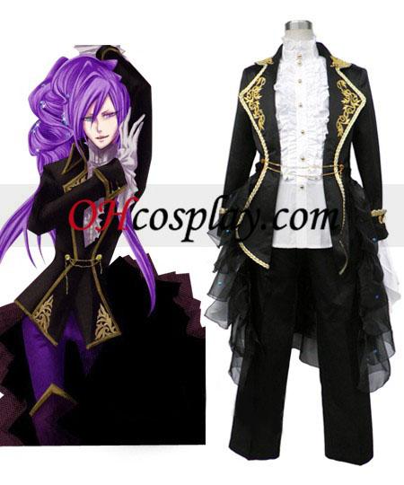Vocaloid черно еднакво жените Cosplay костюм