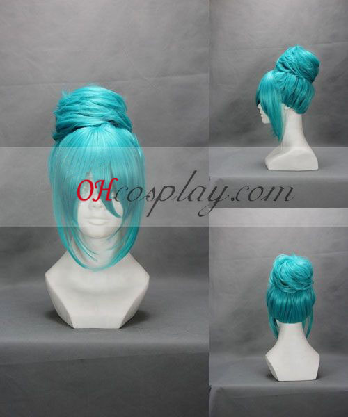 Vocaloid Miku Wedding Dress Blue Cosplay Wig