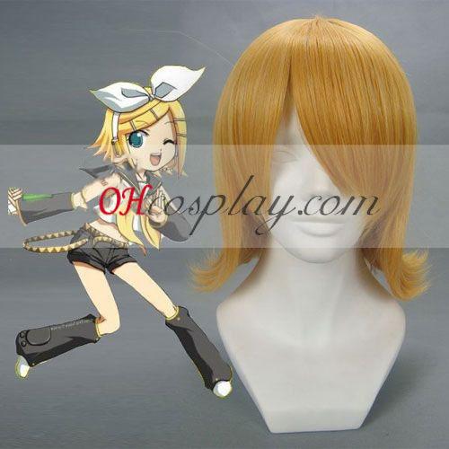 Vocaloid Kagamine Rin Geel Cosplay Pruik