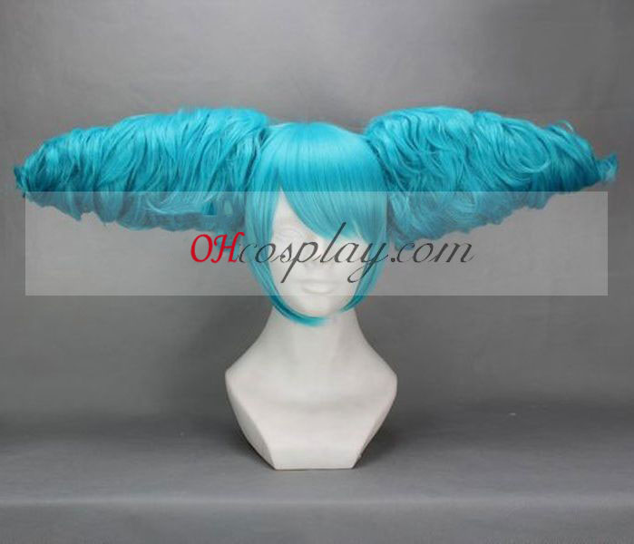 Vocaloid Miku Secret Policy Blue Cosplay Pruik