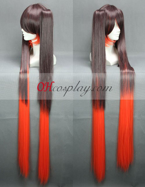 Vocaloid Dead Miku Brown & Red udklædning Paryk