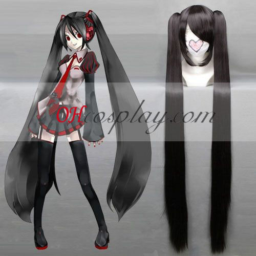 Vocaloid Miku Black Cosplay Pruik