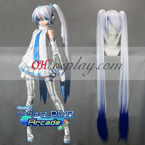 Vocaloid Snow Miku White&Blue Cosplay Wig