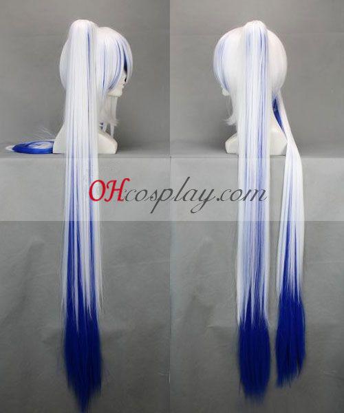 vocaloid miku שלג לבן&כחול קוספליי פאה