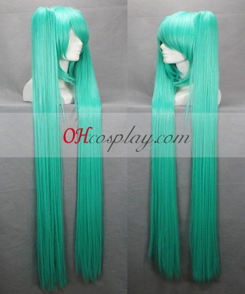 vocaloid miku ירוק כחול קוספליי פאה