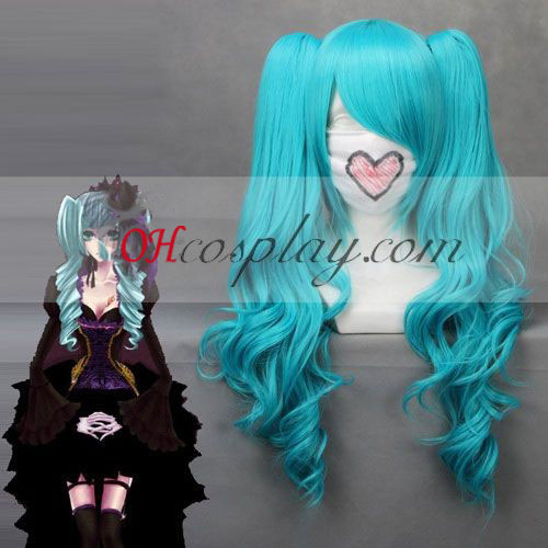 Vocaloid Miku Cosplay Azul Wave peluca