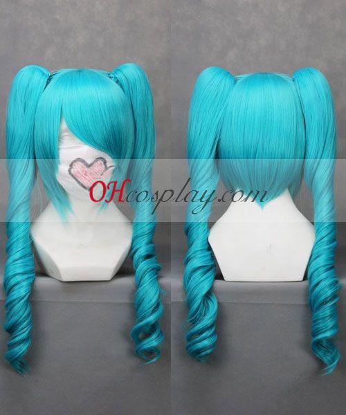 Vocaloid Miku син Cosplay вълна Wig Хелоуин костюми купи онлайн магазин на България