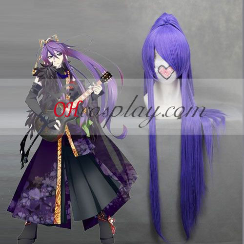 Vocaloid Kamui Gothic Purple Wave Cosplay Pruik