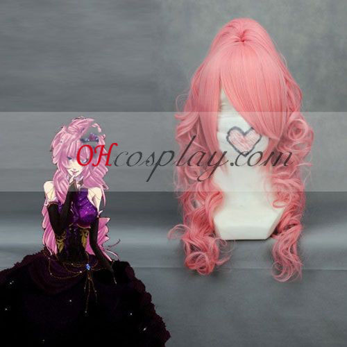 Vocaloid Luka Rose Costume Carnaval Cosplay Vague Perruque