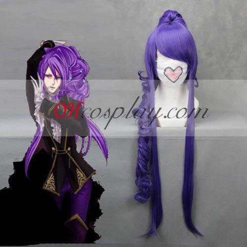 Vocaloid Kamui Gotico Wave Cosplay parrucca Viola