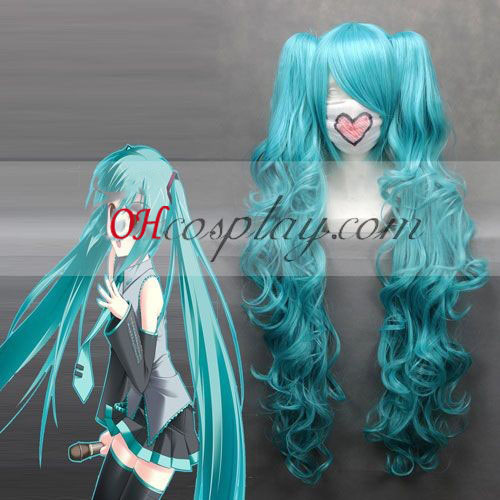 Vocaloid Miku Blue Cosplay Wave Wig