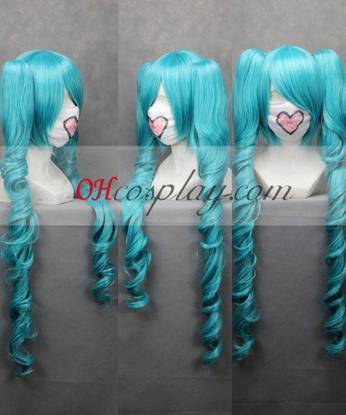 Vocaloid Miku blå udklædning Wave Paryk