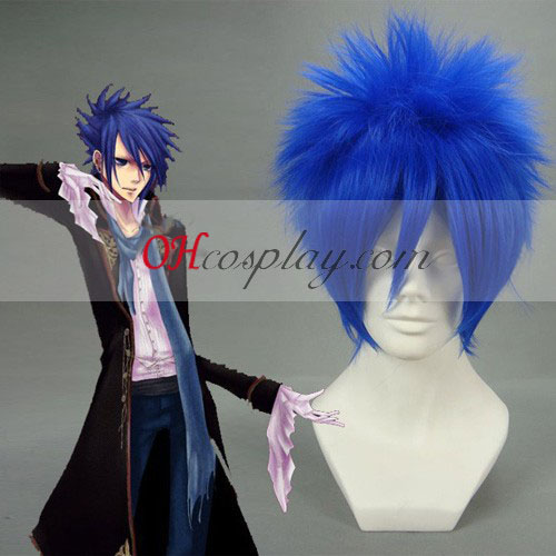 Vocaloid Kaito Dark Blue Cosplay Wig