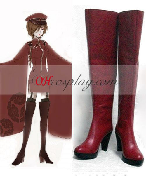 Vocaloid Mille Cherry Tree Meiko Costume Carnaval Cosplay Bottes