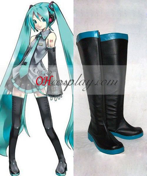 Vocaloid Miku Costume Carnaval Cosplay Bottes