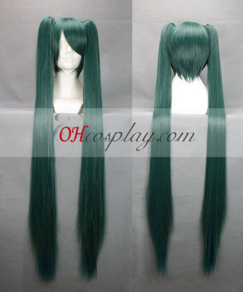 Vocaloid Miku Dark Green cosplay pruik