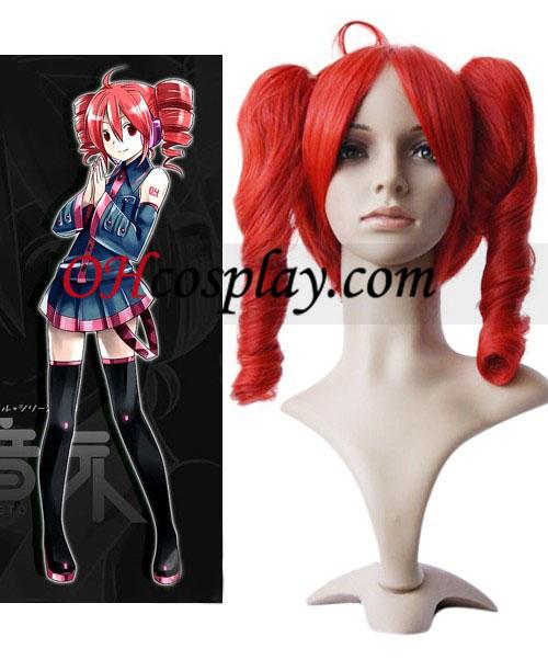 Vocaloid Cosplay peruca Vermelha 40cm