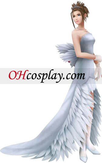 Final Fantasy Yuna Wedding Dress Cosplay Costume
