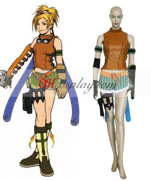Final Fantasy X Camisa Cosplay Rikku Traje