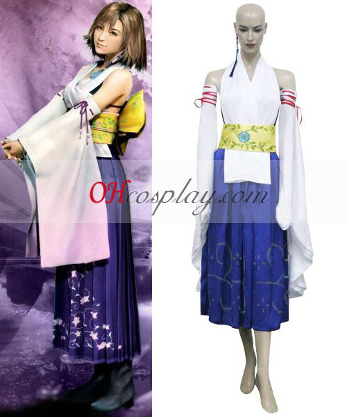 Final Fantasy X Yuna Cosplay Traje