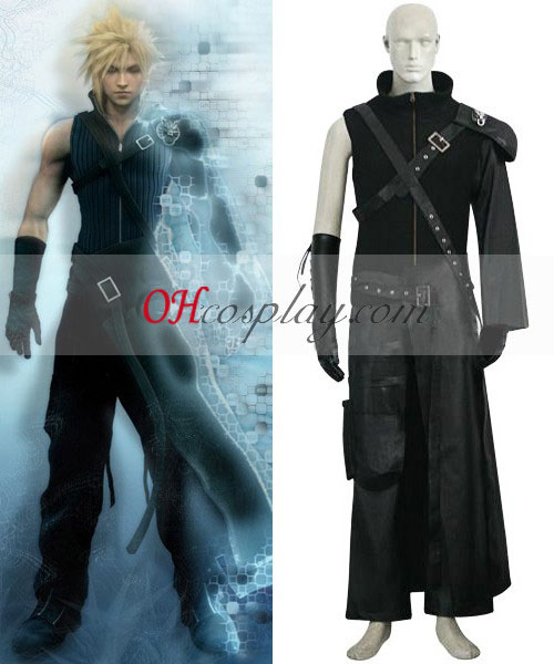 Final Fantasy VII 7 Cloud Deluxe Cosplay Costume