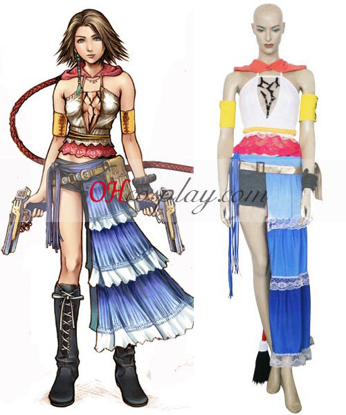 Final Fantasy XII 12 Yuna Cosplay Costume