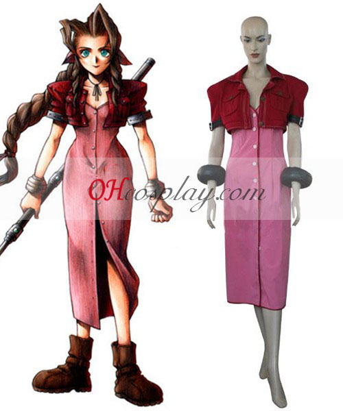 Final Fantasy VII Aerith Cosplay Kostüm