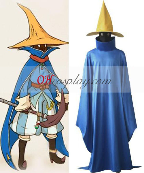 Final Fantasy Black Mage (Musta maagi) Cosplay asu