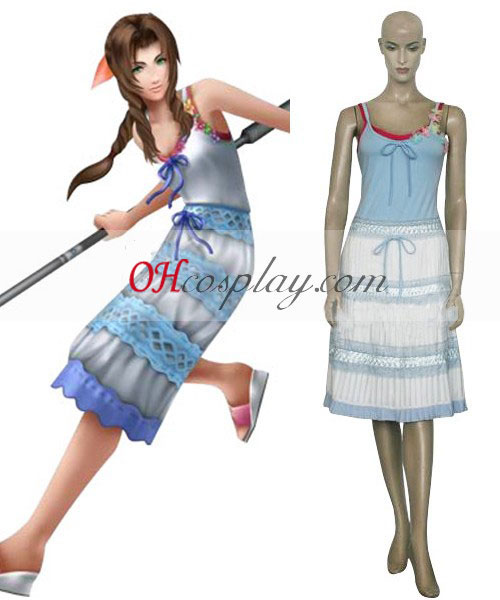 Final Fantasy VII Aerith Gainsborough Cosplay Traje