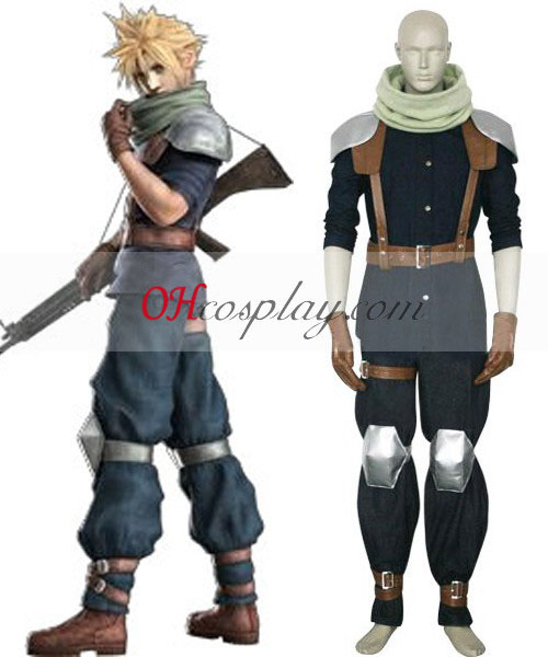 Final Fantasy VII Crisis Core Cloud Strife Cosplay Traje