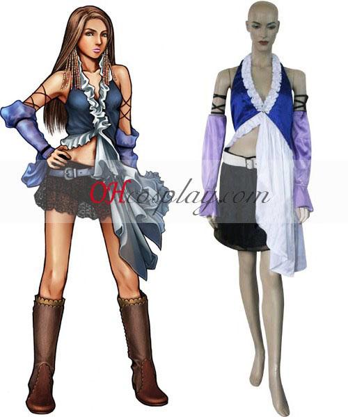 Final Fantasy X-2 Yuna Lenne chant Costume Carnaval Cosplay