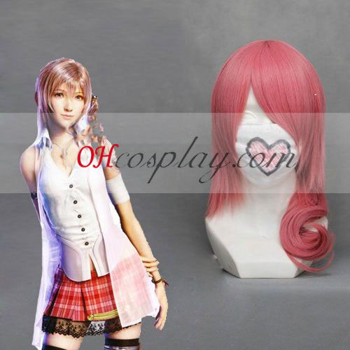 Final Fantasy XIII Serah rose perruque de Costume Carnaval Cosplay