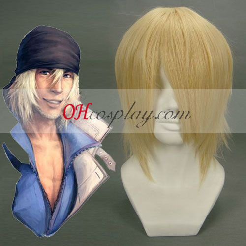 Final Fantasy Snow Villiers lichtbruine Cosplay Wig