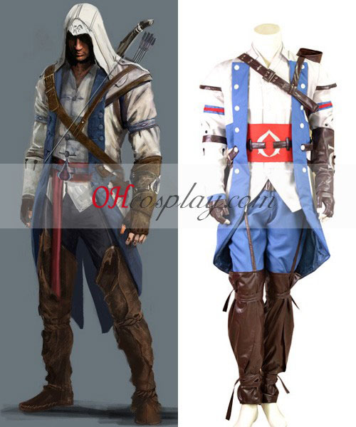 Το Assassin'S Creed ΙΙΙ Connor Render Κοστούμια Cosplay