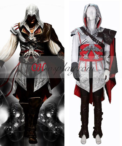 Assassin's Creed II Ezio Cosplay Kostuum - Premium Editon