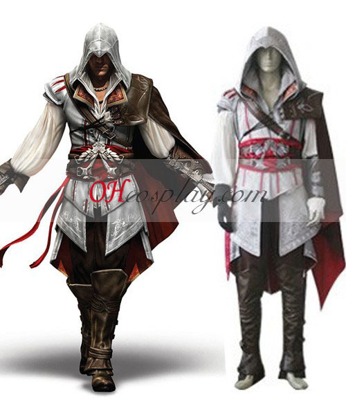 Creed II Ezio Costume Carnaval Cosplay Costume de Assassin