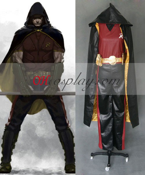 Batman Arkham City Robin Cosplay Kostym